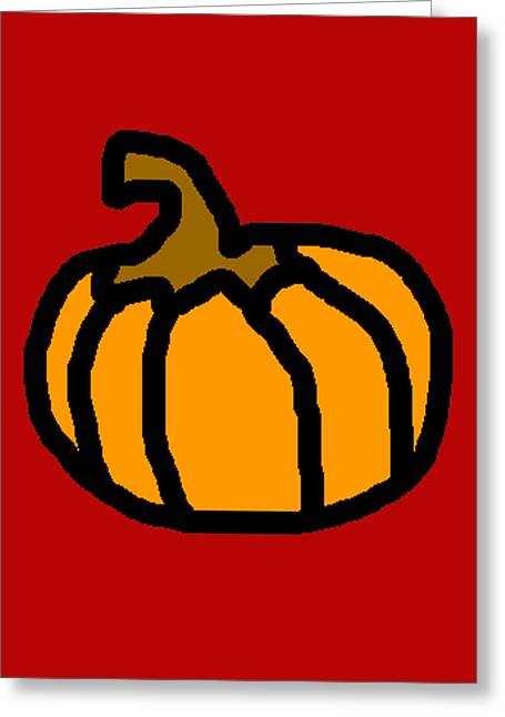 Character Portraits Greeting Cards - Pumpkin Greeting Card by Jera Sky