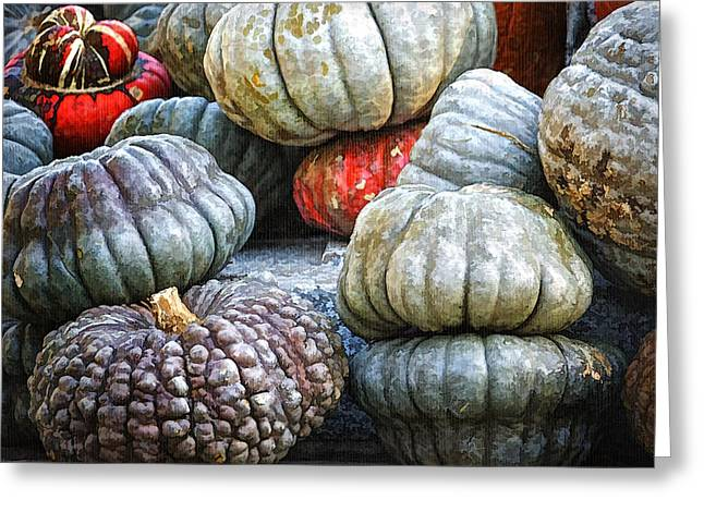 Pumpkin Pile II Greeting Card by Joan Carroll