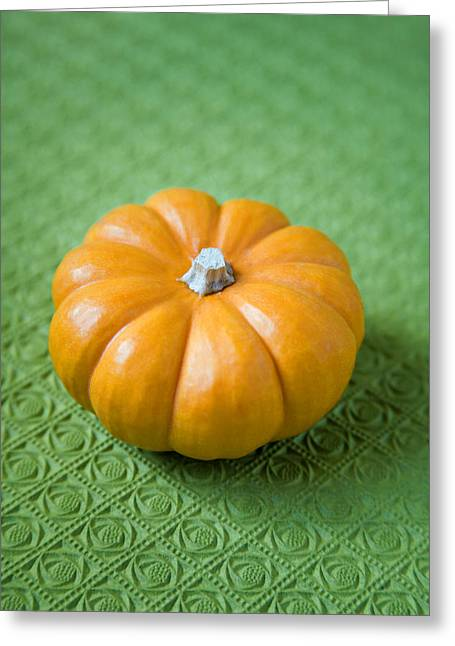 Mini Pumpkins Greeting Cards - Pumpkin Greeting Card by Veronique Leplat