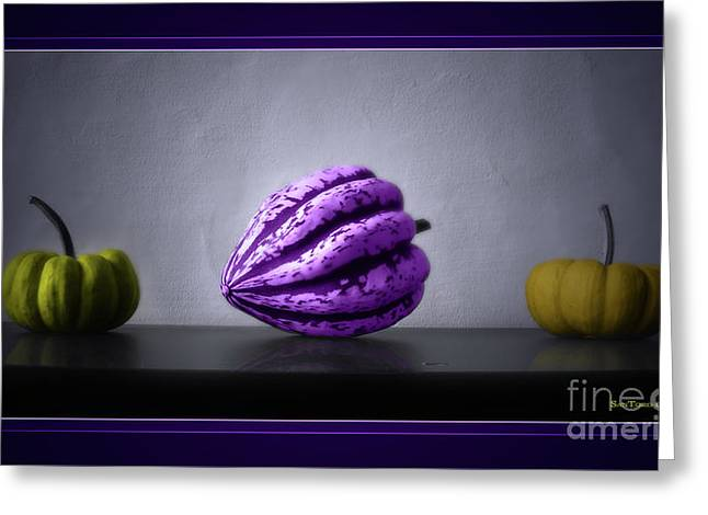 Colourfully Greeting Cards - Pumpkins Greeting Card by Bruno Santoro