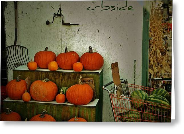Watermelon Greeting Cards - Pumpkins Greeting Card by Chris Berry