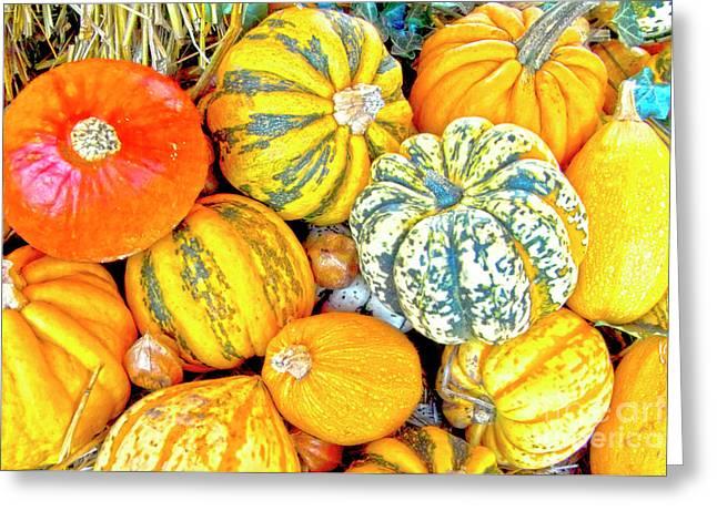 Edibles Greeting Cards - Pumpkins Greeting Card by Heiko Koehrer-Wagner