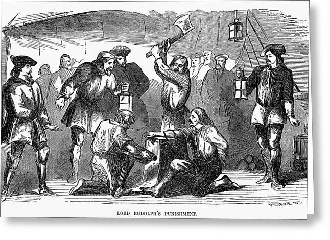Barrington Greeting Cards - Punishment Greeting Card by Granger