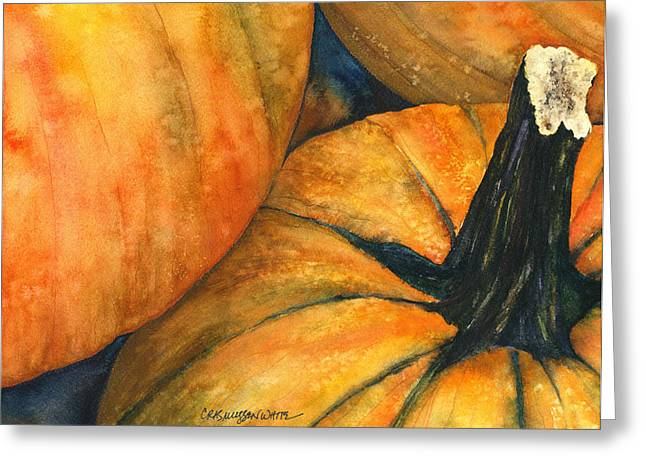 Hallows Eve Greeting Cards - Punkin Greeting Card by Casey Rasmussen White