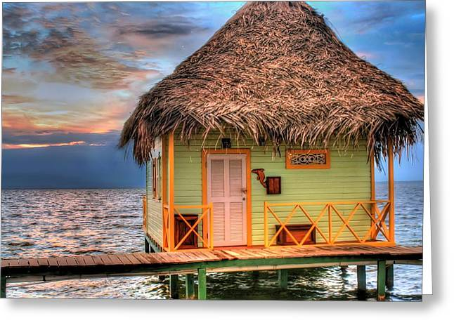 Caribbean Sunset Greeting Cards - Punta Caracol Greeting Card by Dolly Sanchez