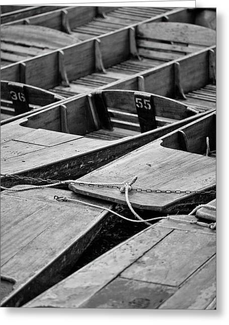 Pastimes Greeting Cards - Punts stacked Greeting Card by Martin Holt