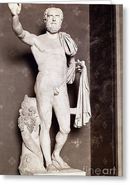 Statue Portrait Photographs Greeting Cards - PUPIENUS MAXIMUS (c178-238) Greeting Card by Granger