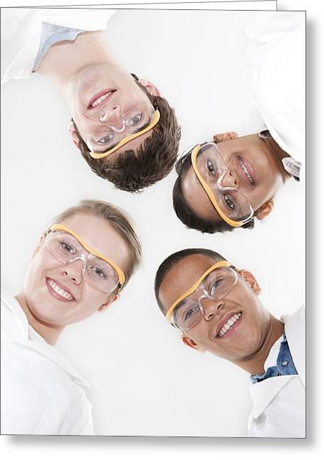 Chinese Ethnicity Greeting Cards - Pupils Wearing Safety Goggles Greeting Card by