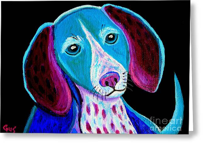 Puppy Love Greeting Card by Nick Gustafson