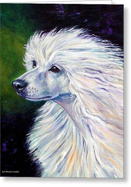 Chinese Dogs Greeting Cards - Pure Poetry - Chinese Crested Greeting Card by Lyn Cook