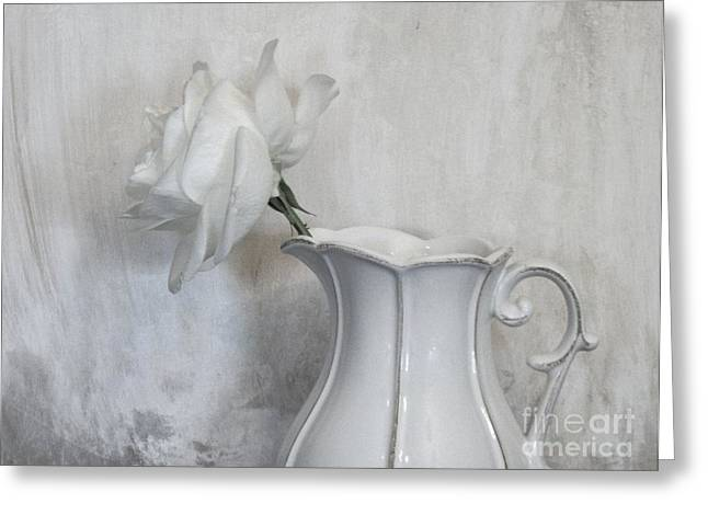 Still Life With Pitcher Greeting Cards - Pure White Greeting Card by Marsha Heiken