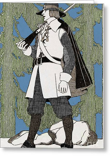 Puritan Greeting Cards - Puritan Clothing, 1620 Greeting Card by Photo Researchers