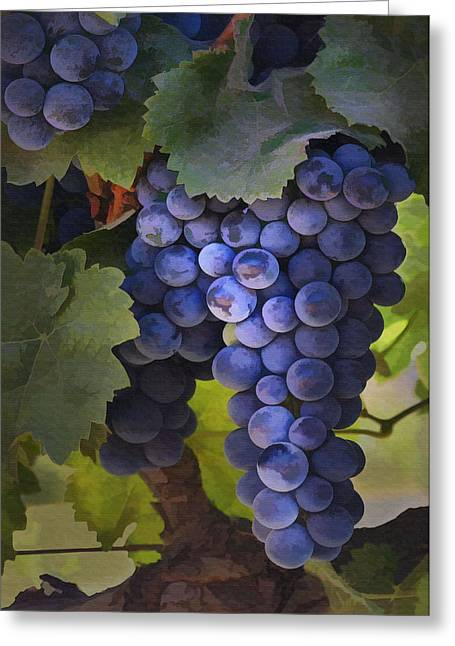 Purple Grapes Greeting Cards - Purple Blush Greeting Card by Sharon Foster