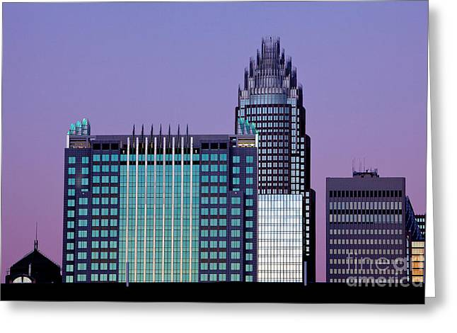 Mecklenburg County Greeting Cards - Purple Charlotte sunset Greeting Card by Patrick Schneider