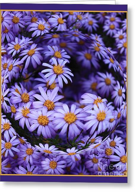 Carol Groenen Digital Art Greeting Cards - Purple Daisy Abstract Greeting Card by Carol Groenen