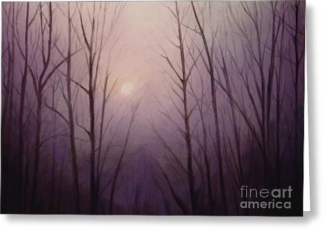 Purples Pastels Greeting Cards - Purple Dawn Greeting Card by Curtis James
