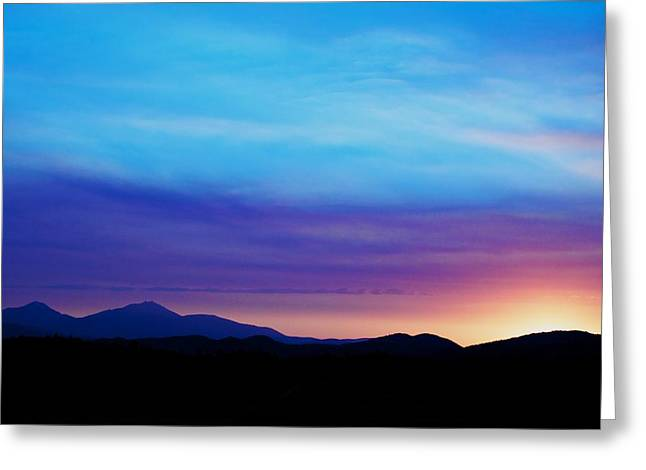 Sunset Posters Greeting Cards - Purple Evening  Greeting Card by Kevin Bone