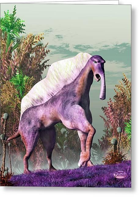 Camel Digital Greeting Cards - Purple Fantasy Creature Greeting Card by Daniel Eskridge