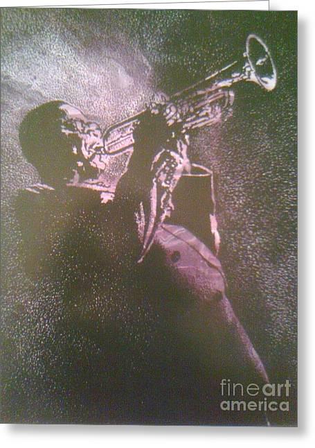 Dizzy Mixed Media Greeting Cards - Purple Haze Dizzy Greeting Card by Derrick Smith