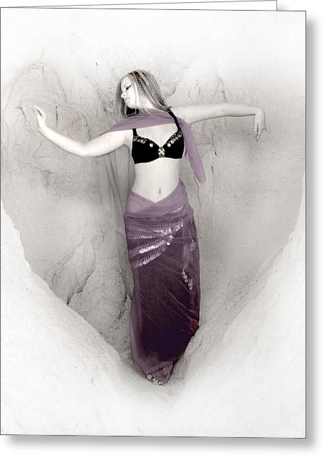 Bellybutton Greeting Cards - Purple heart Greeting Card by Sleepy Weasel