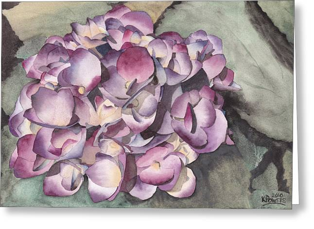 Purple Hydrangeas Greeting Cards - Purple Hydrangea Greeting Card by Ken Powers