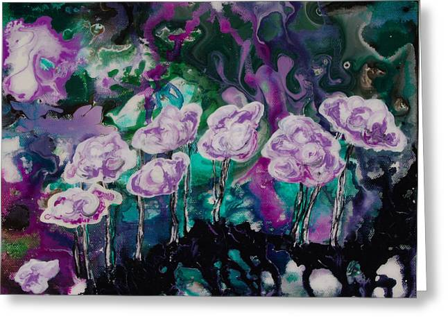 Purple Lava Floral Greeting Card by Shelly Leitheiser
