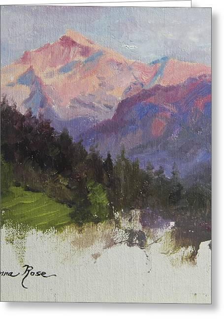 Hills Greeting Cards - Purple Majesty Plein Air Study Greeting Card by Anna Bain