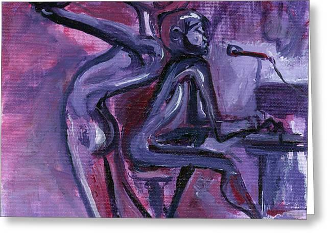 Purple Mood Greeting Card by Toni  Thorne