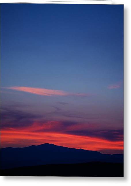 Sunset Posters Greeting Cards - Purple Mountain Greeting Card by Kevin Bone