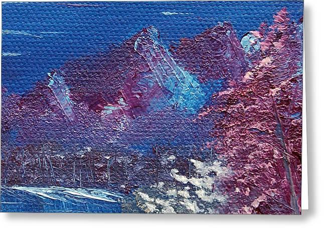 Purple Mountain Landscape Greeting Card by Jera Sky