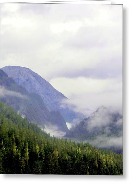 Mystical Landscape Greeting Cards - Purple Mountain Majesties Greeting Card by Mindy Newman