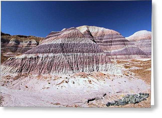 Petrified Forest National Park Greeting Cards - Purple Mountain Majesty Greeting Card by Adam Jewell