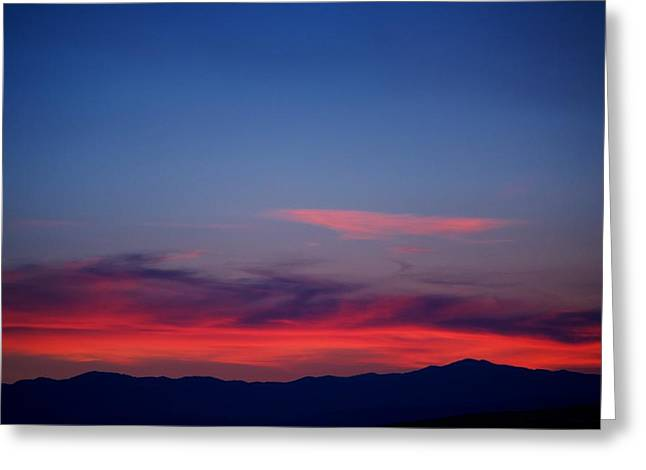 Sunset Framed Prints Greeting Cards - Purple Mountains Greeting Card by Kevin Bone
