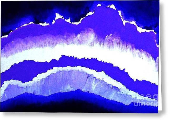 Hues Of Purple Greeting Cards - Purple Mountains Majesty Greeting Card by Marsha Heiken