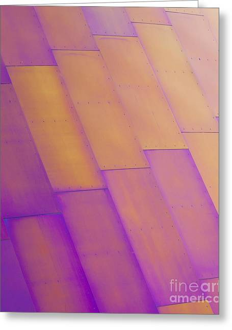 Metal Sheet Greeting Cards - Purple Orange I Greeting Card by Chris Dutton