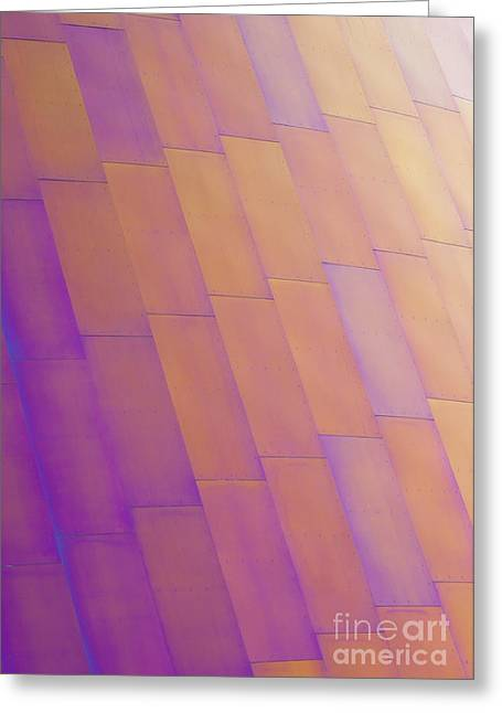 Metal Sheet Greeting Cards - Purple Orange Two Greeting Card by Chris Dutton