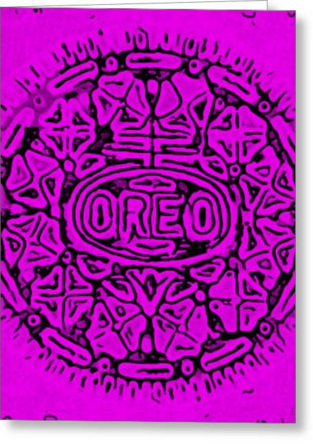 Oreo Greeting Cards - Purple Oreo Greeting Card by Rob Hans