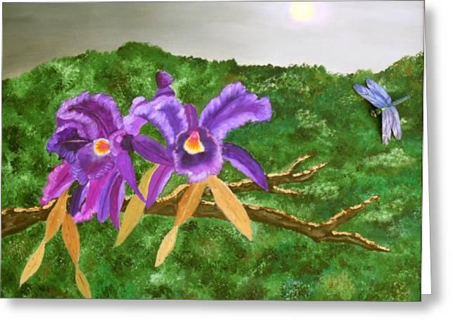 Alanna Hug-mcannally Greeting Cards - Purple Passion Greeting Card by Alanna Hug-McAnnally