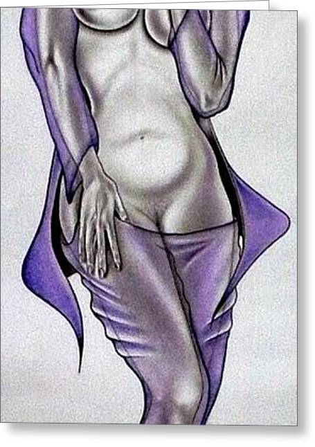 Refurbished Photos Drawings Greeting Cards - Purple Passion Greeting Card by Rick Hill