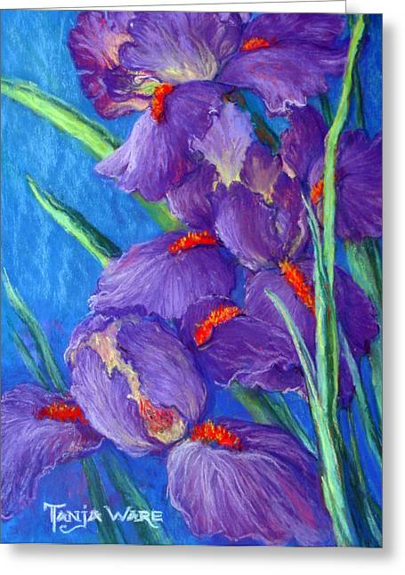 Iris Pastels Greeting Cards - Purple Passion Greeting Card by Tanja Ware