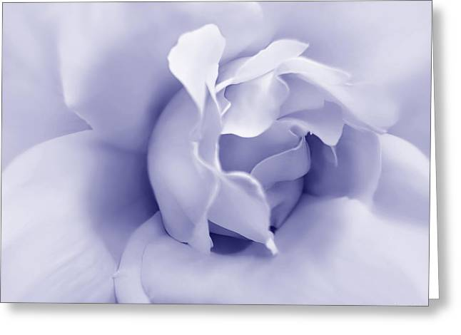 Abstract Rose Abstract Greeting Cards - Purple Pastel Rose Flower Greeting Card by Jennie Marie Schell