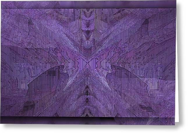 Purple Abstract Greeting Cards - Purple Poeticum Greeting Card by Tim Allen