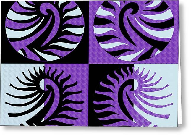 Purple Abstract Greeting Cards - Purple pop art Greeting Card by Sumit Mehndiratta