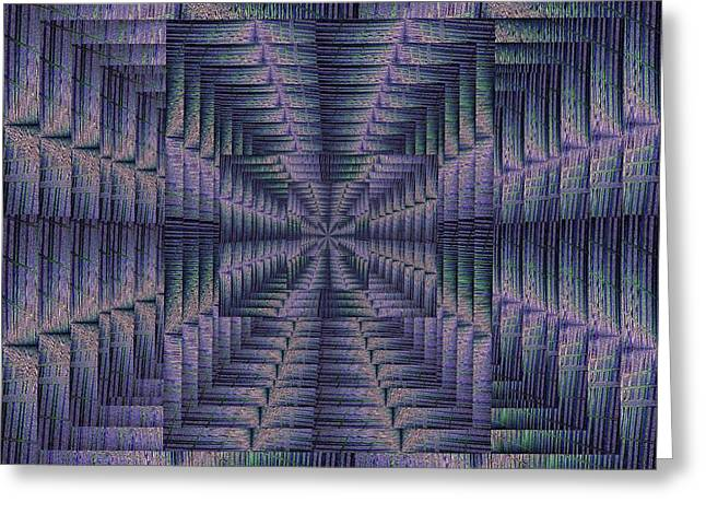 Portal Greeting Cards - Purple Portal Greeting Card by Tim Allen
