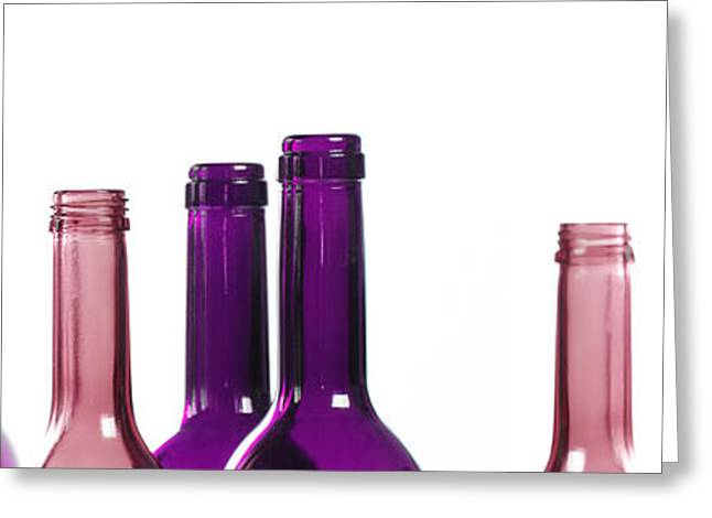Glass Bottle Greeting Cards - Purple rain Greeting Card by Andreas Berheide
