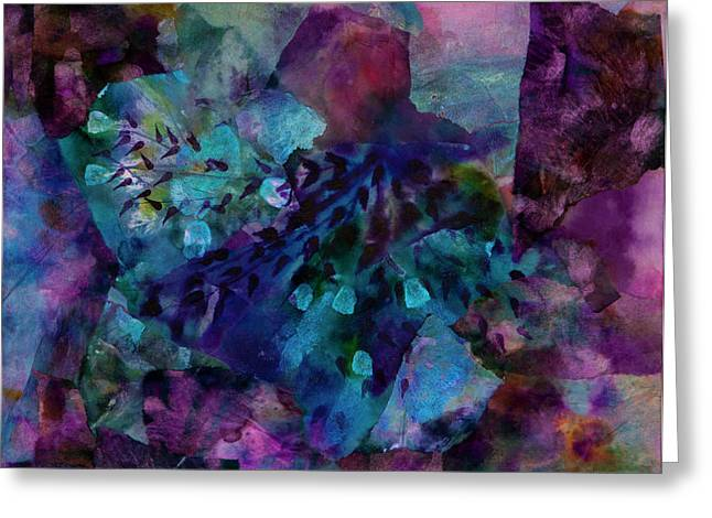 Hues Of Purple Greeting Cards - Purple Rain  Greeting Card by Don Wright