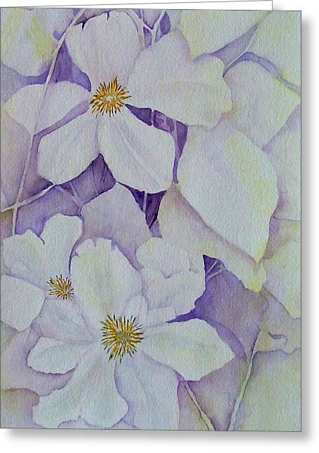 Heidi Patricio-nadon Greeting Cards - Purple Shades Greeting Card by Heidi Patricio-Nadon