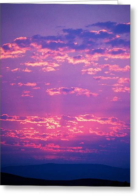 Sunset Posters Greeting Cards - Purple Sky  Greeting Card by Kevin Bone