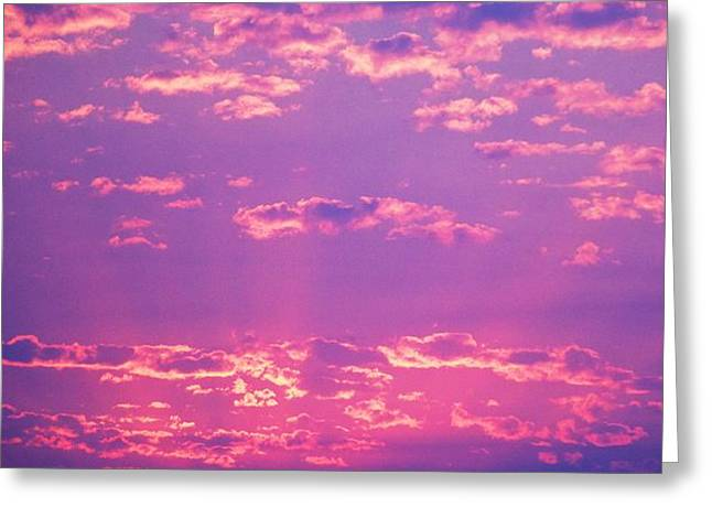 Purple Sky  Greeting Card by Kevin Bone