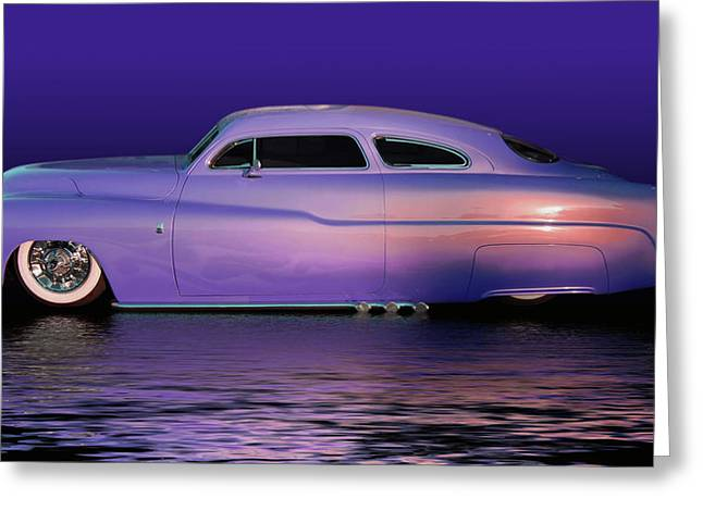 Slammer Greeting Cards - Purple Sled Greeting Card by Bill Dutting